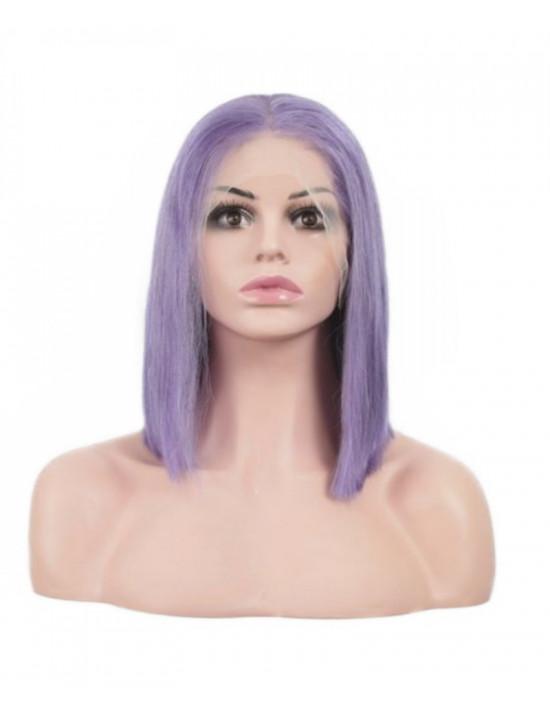 Perruque violet (lace wig coupe carré) 100% cheveux naturels remy