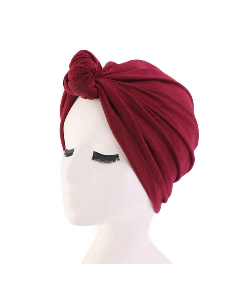 turban femme rouge