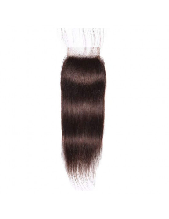 Lace closure 4x4 lisse chatain