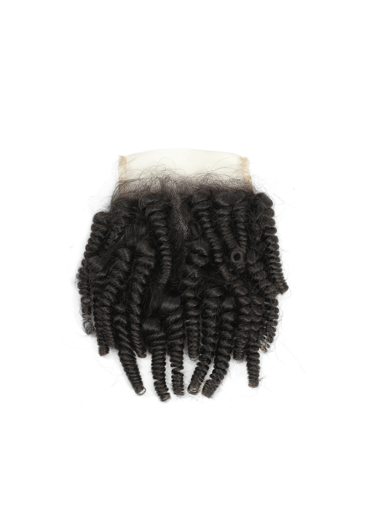 Lace closure Afro curly 100% cheveux naturels