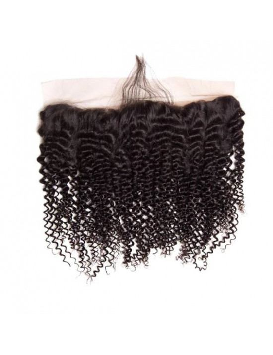 Lace frontal kinly curly naturel 13x4 100% cheveux naturels remy