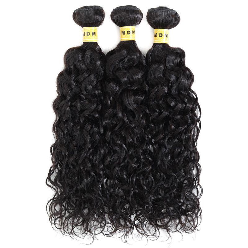 Mèches brésiliennes bouclées water wave lot 3 100% cheveux naturels