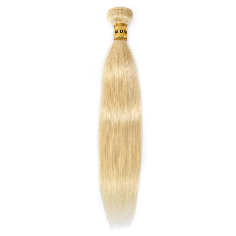 Tissage blond platine cheveux 100% naturels