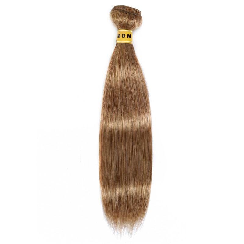 Tissage châtain clair doré cheveux 100% remy