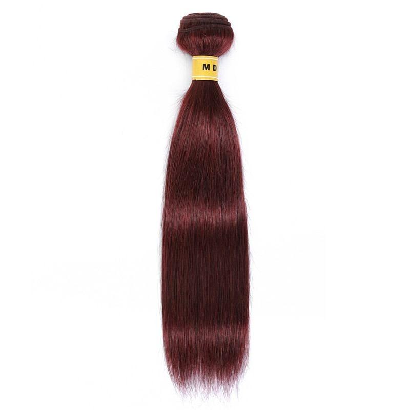 Tissage couleur rouge bordeaux cheveux 100% remy
