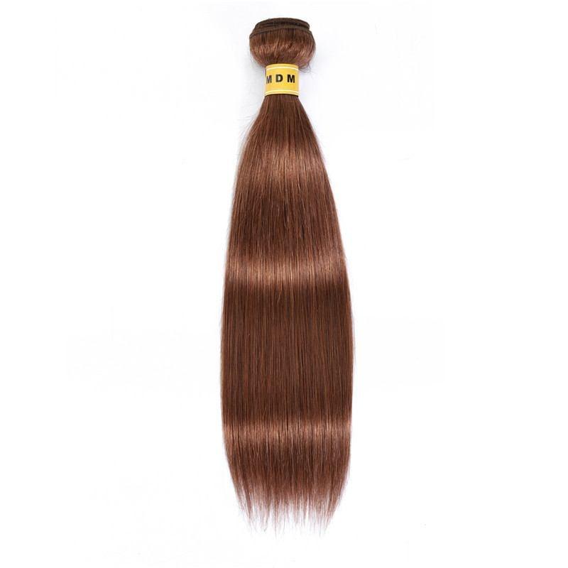 Tissage couleur acajou cheveux 100% remy