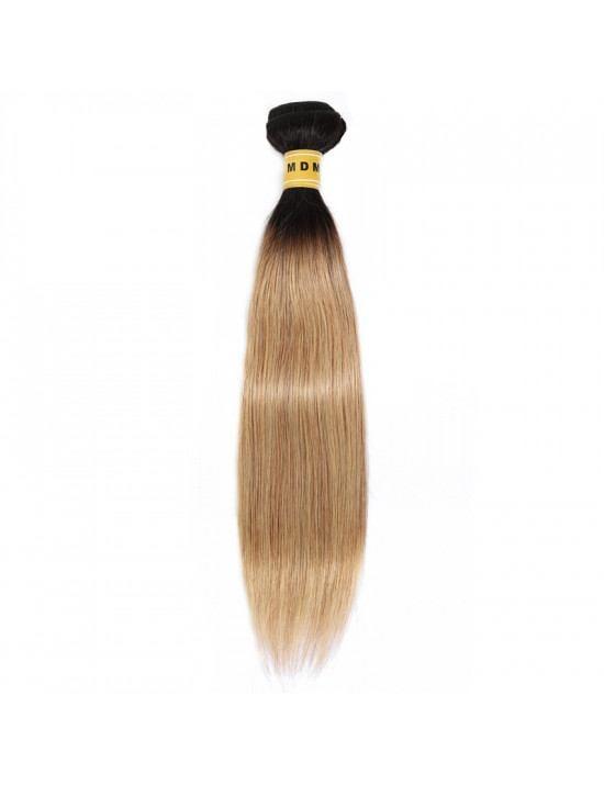 Tissage ombré blond cheveux naturels 100% Remy