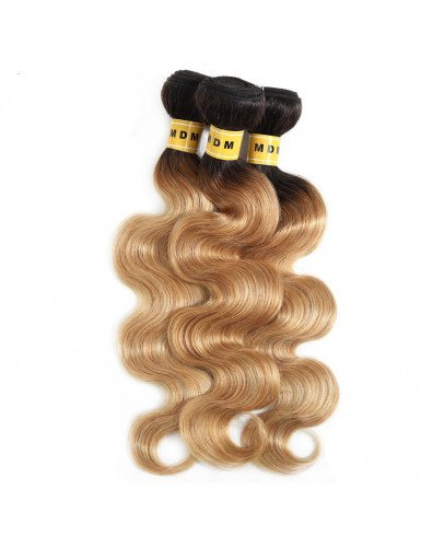 Tissage body wave ombré blond