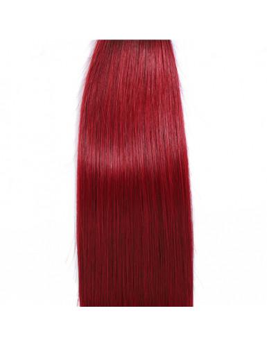tissage ombré rouge lisse
