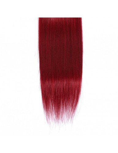 cheveux naturels ombré rouge