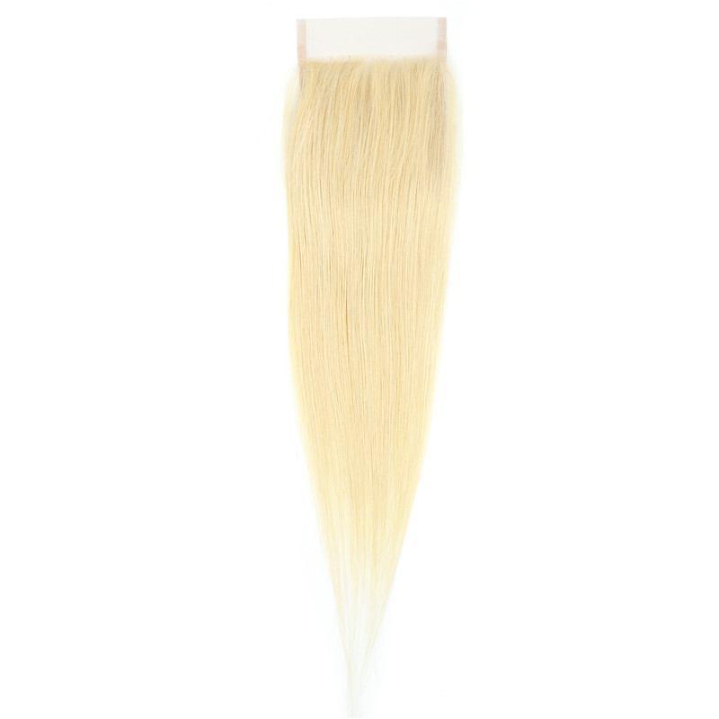 Lace closure blonde platine 100% cheveux naturels remy