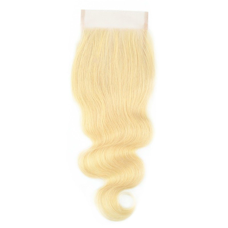Lace closure body wave blond