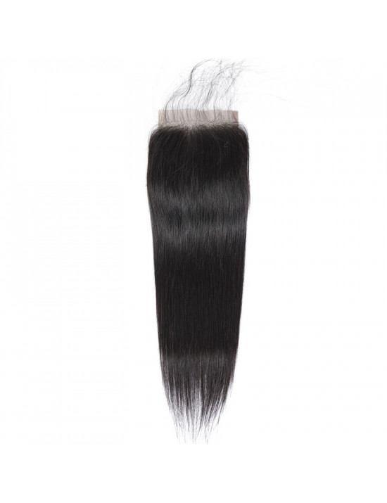 Lace closure tissage lisse 100% cheveux naturels remy