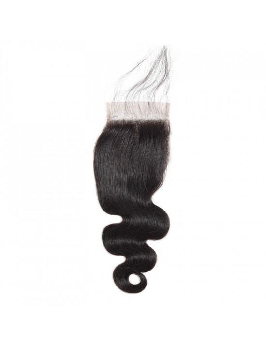 Lace closure tissage ondulé body wave 100% cheveux naturels remy