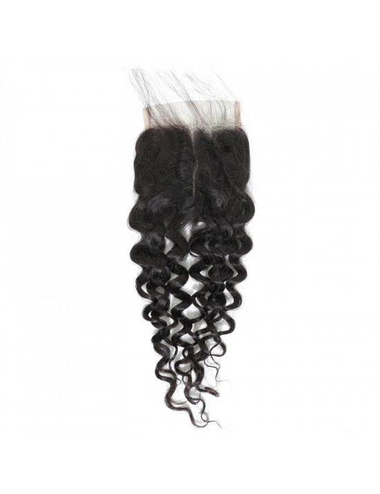 Lace closure tissage bouclé water wave 100% cheveux naturels