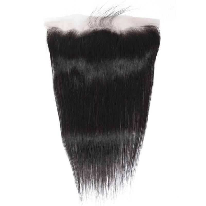 Lace frontal lisse naturel 13*4 100% cheveux naturels remy