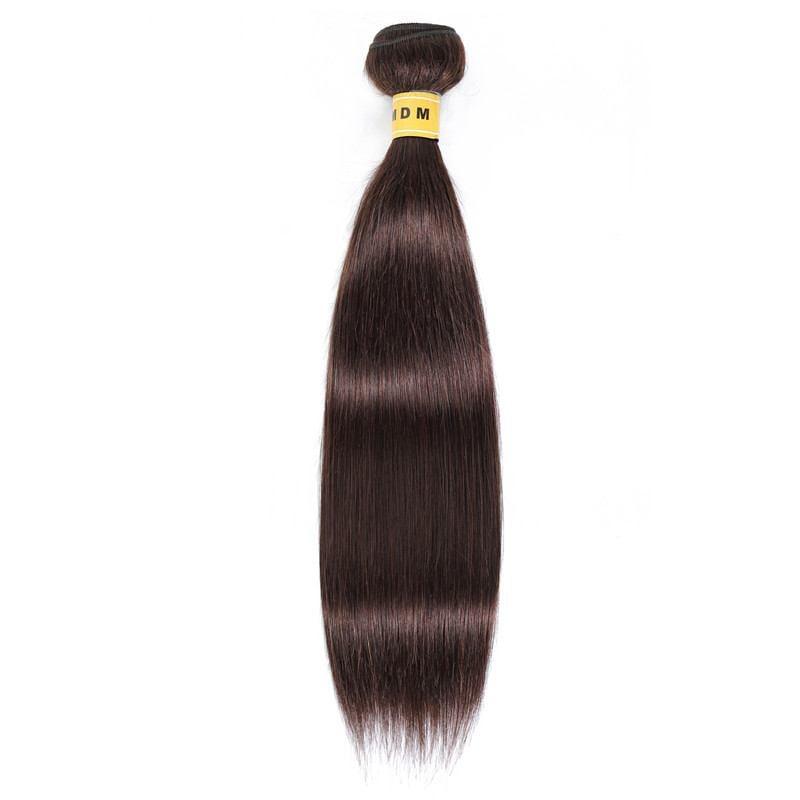 Tissage Châtain foncé cheveux 100% naturels