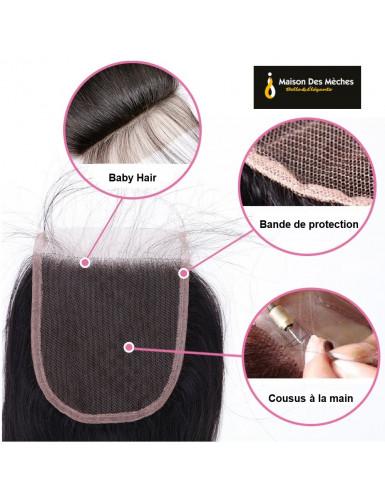 tissage cheveux Naturels avec closure