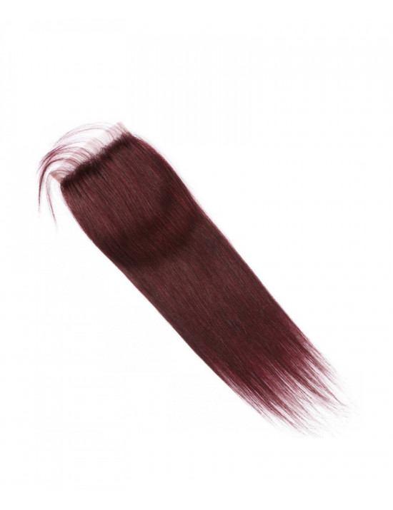 Closure rouge bordeaux 100% cheveux naturels