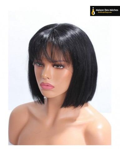 lace wig courte cheveux humains