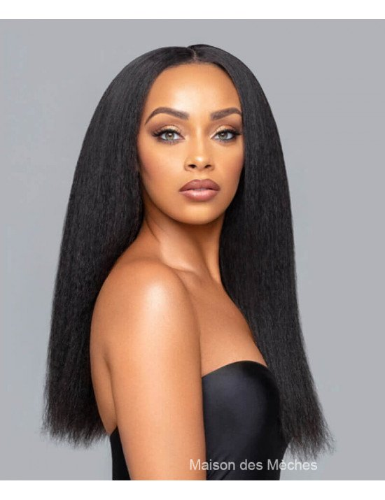 Perruque kinky Straight Yaki / Lace Wig kinky lisse cheveux défrisés